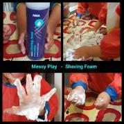 Messy play shaving foam