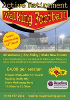 Walking Football Flyer