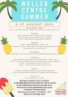 Weller Centre Summer Activities 2021 flyer