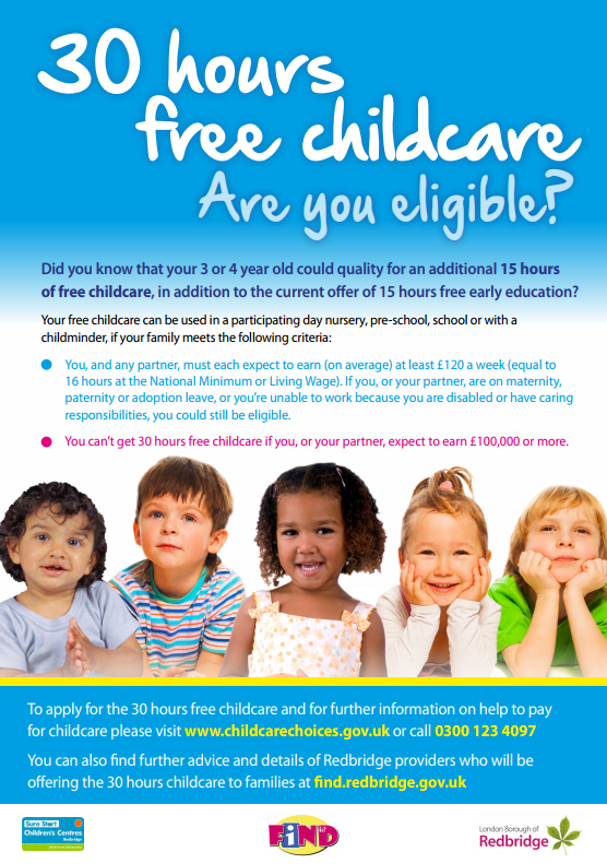 extended free childcare entitlement  30 hours