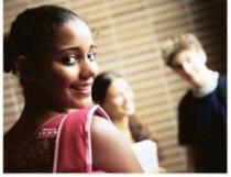 Girl looking back over her shoulder