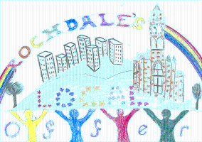 Picture drawn by child of Rochdale town