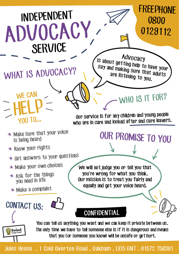 Infographic for Freephone Advocacy Service