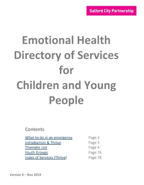 Emotional Health and Wellbeing Directory