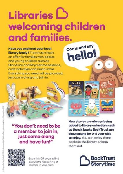 library welcomes children and families