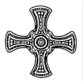 Cross of St Cuthbert, our patron.
