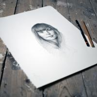 Example of pencil portrait drawing.