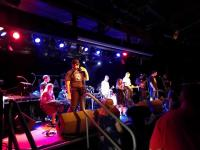 One of our bands, the Clubland Detectives, playing on stage at The Leadmill.