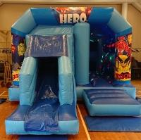 Hero bouncy castle