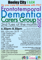2019 dates for the carers group