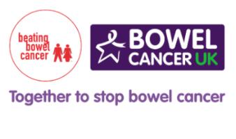 Beating Bowel Cancer and Bowel Cancer UK logos