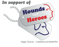 Hounds for Heroes logo