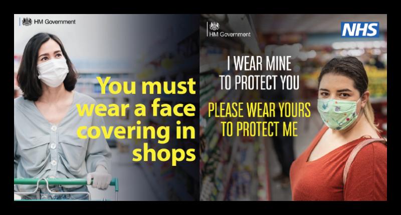 Image of 2 ladies wearing face coverings