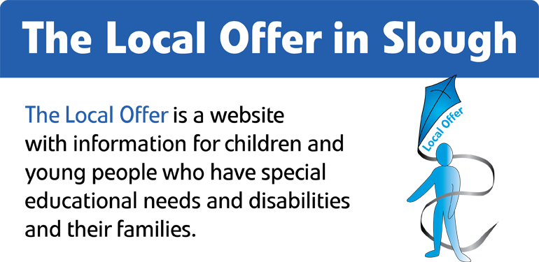 Slough Local Offer logo with information on the Local Offer