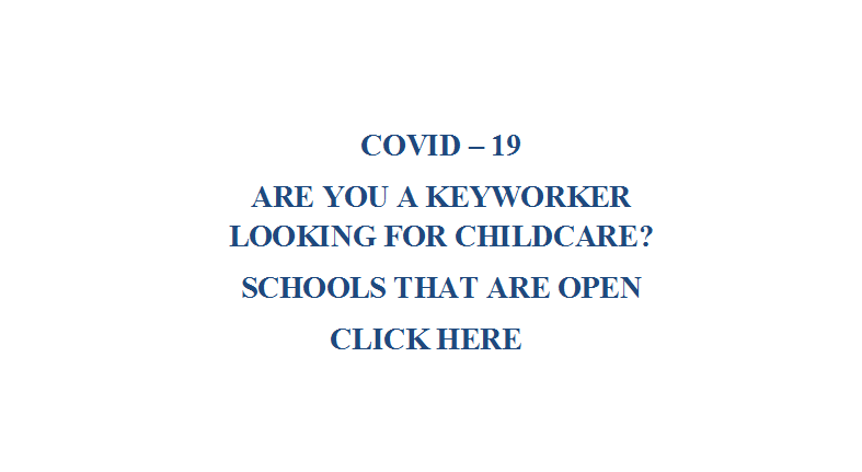 Link to keyworker childcare and schools open