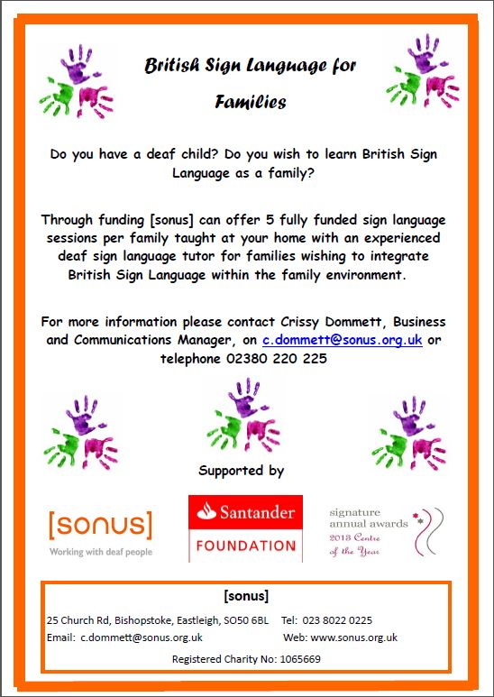 Sonus family sign flier