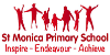 St Monica Primary School logo