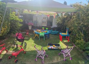 garden with outside toys