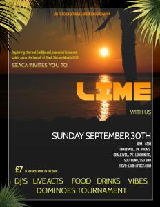 LIME, BHM EVENT IN SOUTHEND 2018
