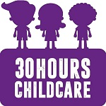 30 hours childcare logo