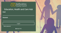 Image of EHC Hub website login page