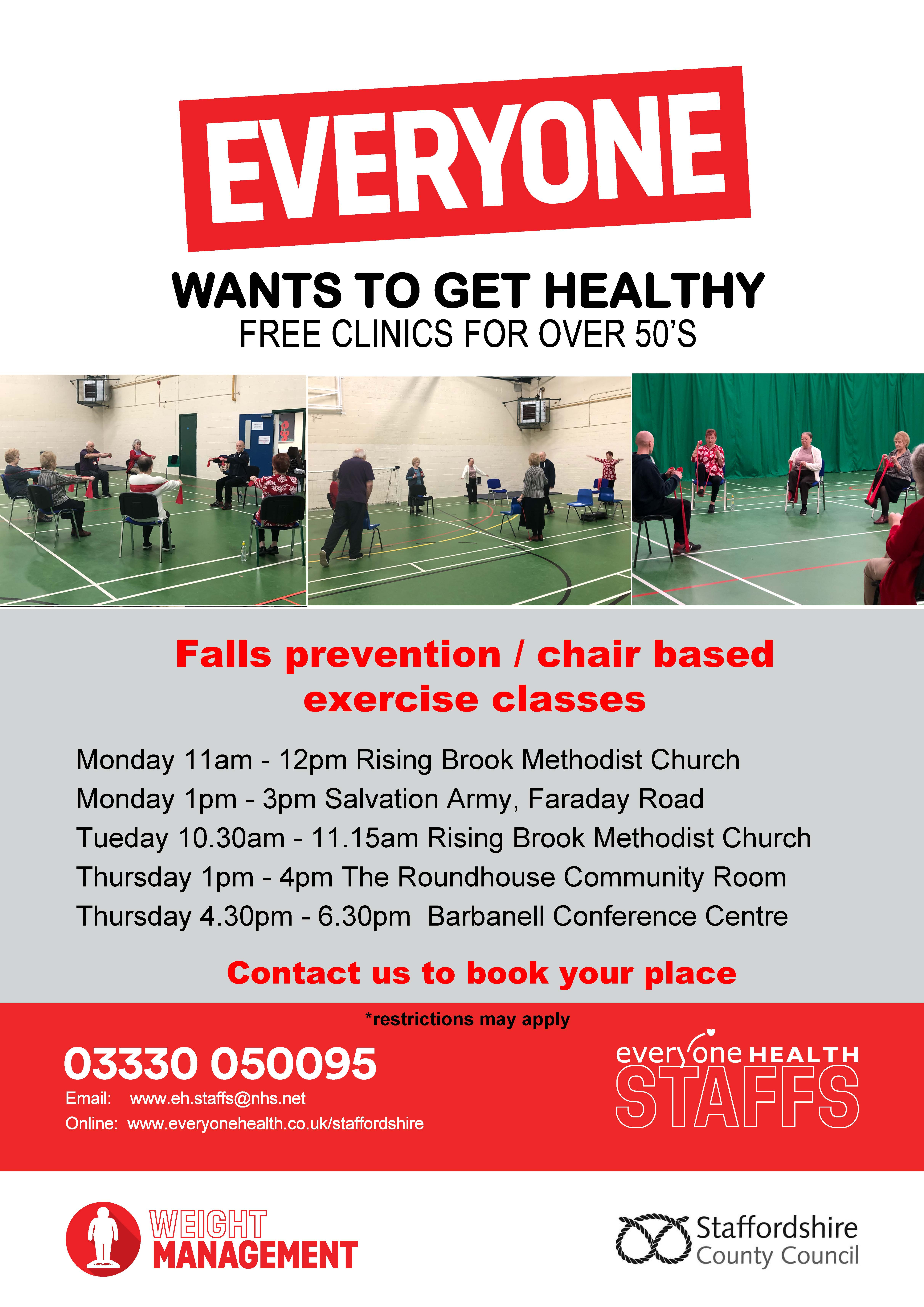 Everyone Health Falls Prevention Service | Staffordshire Connects