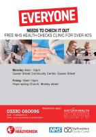 NHS health check clinics in Burton