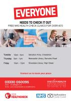 NHS health check clinic timetable in North Staffs