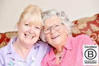 A Radfield Home Care client with a carer