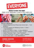 Stop smoking community clinics in Burton