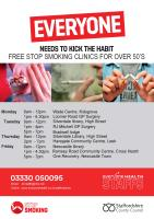 Stop smoking clinics in North Staffs