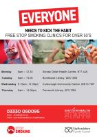 Stop smoking in Tamworth and Lichfield