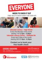 NHS health check clinic timetables for Uttoxeter