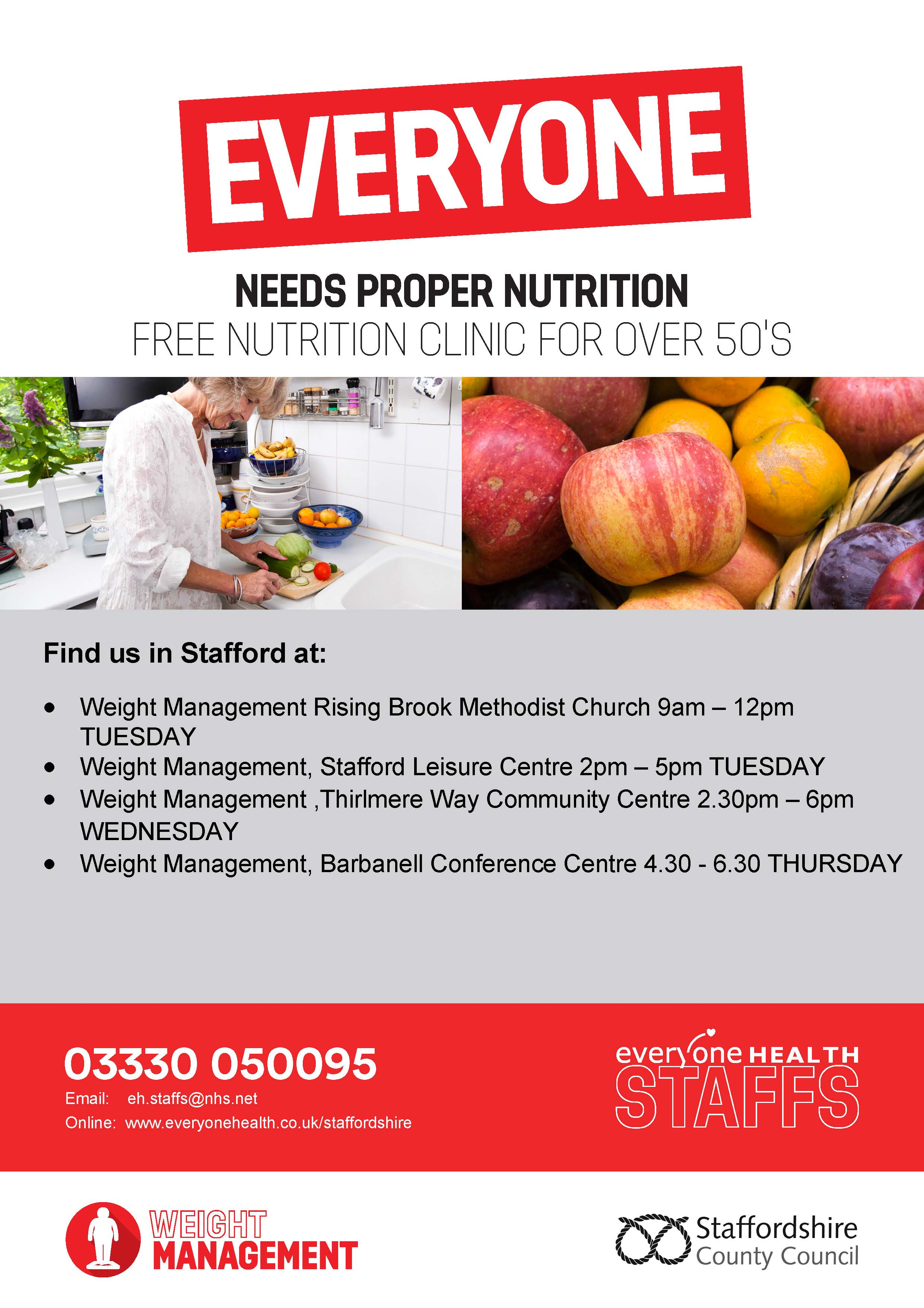 Everyone Health Weight Management Service | Staffordshire