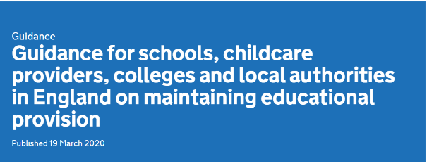 Guidance for schools, childcare providers, colleges and local authorities in England on maintaining educational provision