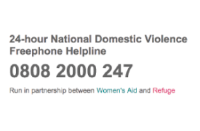 Domestic Violence Freephone Helpline Logo