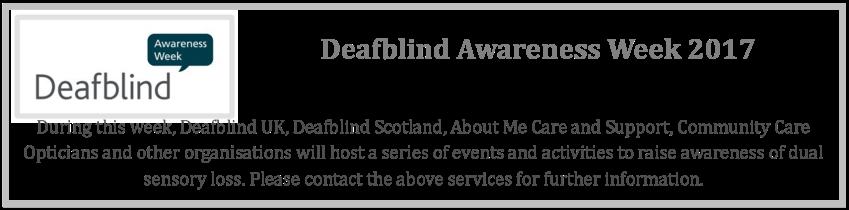 Deafblind Week 2017