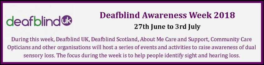 Deafblind Week 2018