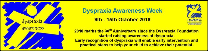 Dyspraxia Awareness Week 2018