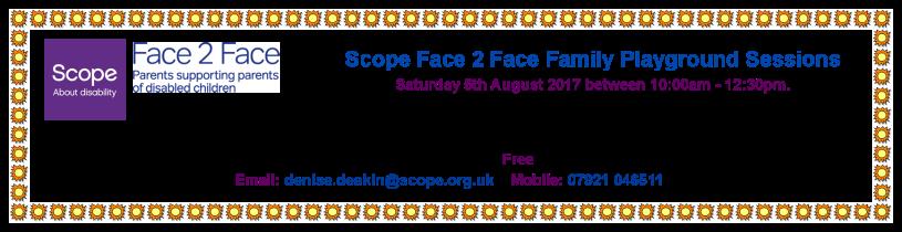 SCOPE F2F Family Playground - Aug