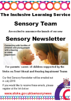 Sensory Team Newsletter Flyer