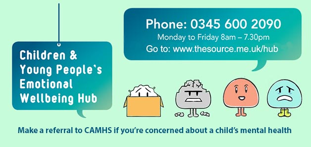 Make a referral to the Emotional Wellbeing Hub if you're concerned about a child's mental health.