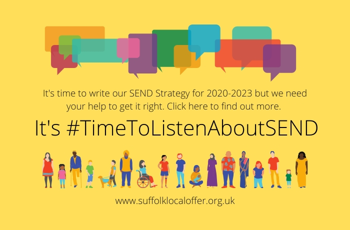 Help us produce our 2020-2023 Suffolk SEND Strategy