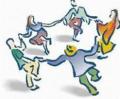 circle dancing clip art