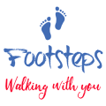 Footsteps -walking with you logo