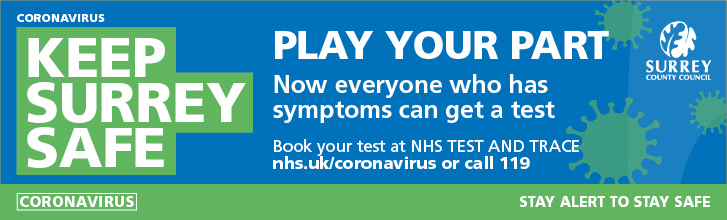 Coronavirus - Keep Surrey Safe NHS Trace and Test