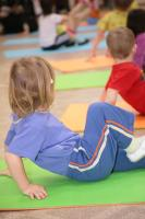 Picture of toddler doing exercises