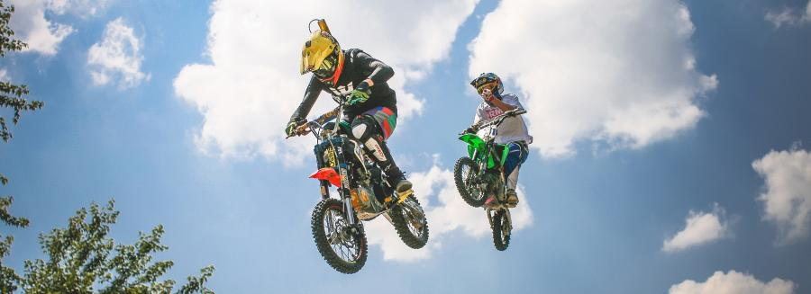 Off road bikes and riders