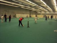 Picture of indoor cricket course.