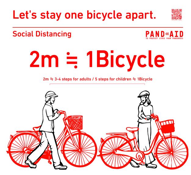 Keep 1 bicycle width apart